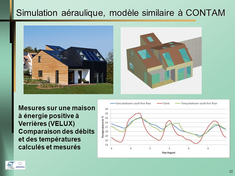 Simulation aéraulique, modèle similaire à CONTAM
