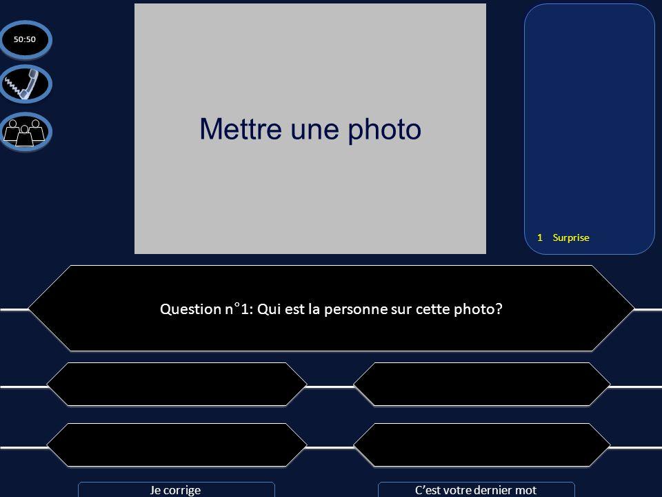 Mettre une photo Question n°1: Qui est la personne sur cette photo