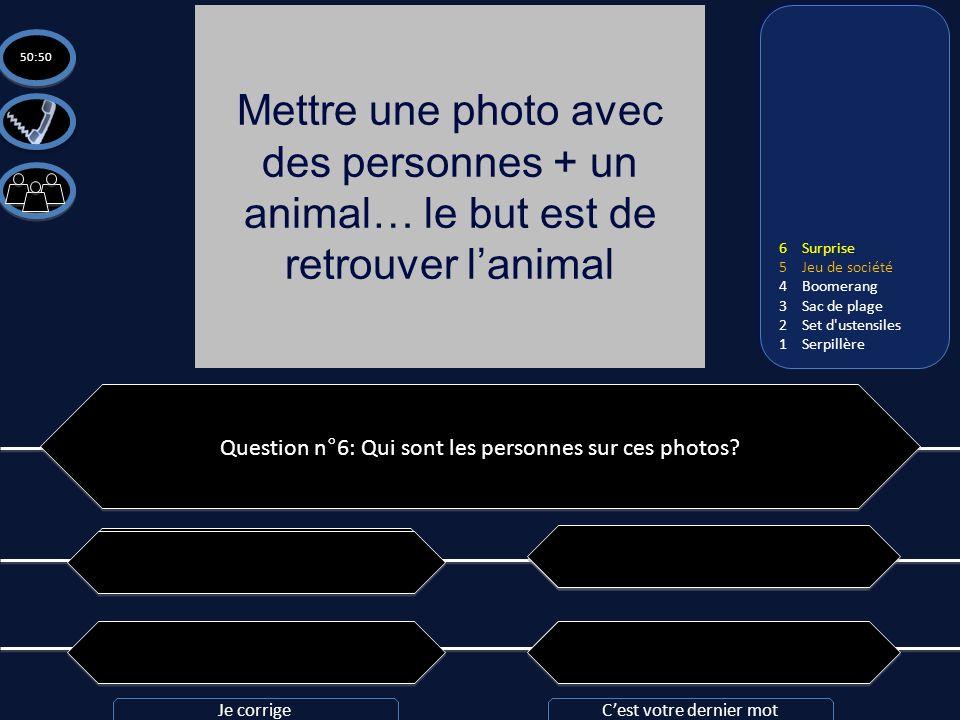 Mettre une photo avec des personnes + un animal… le but est de retrouver l'animal