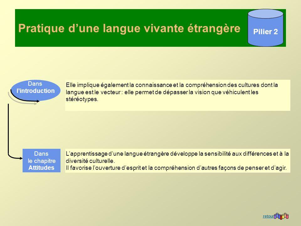 Pratique d'une langue vivante étrangère