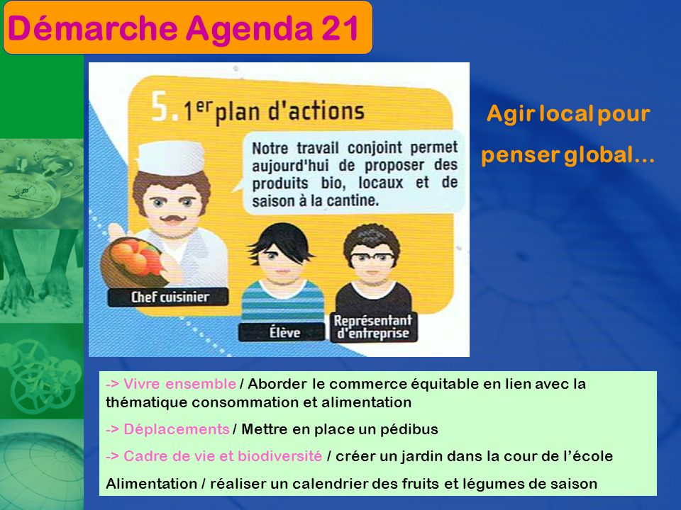 Démarche Agenda 21 Agir local pour penser global…