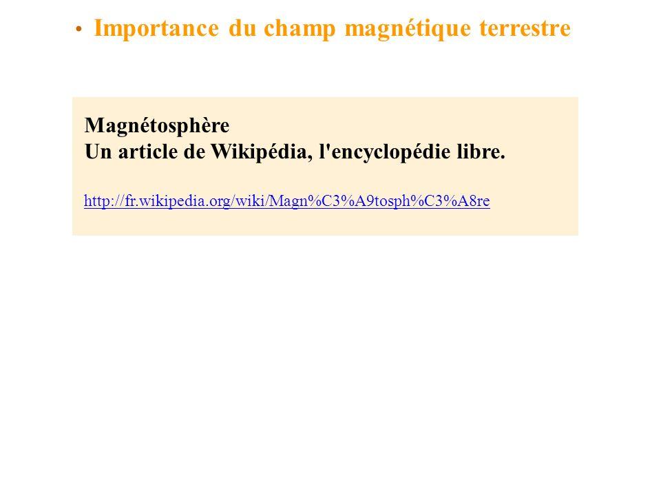 Importance du champ magnétique terrestre
