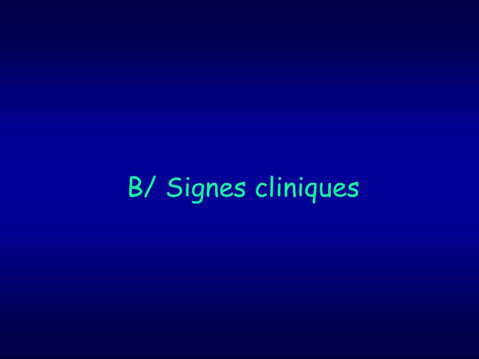B/ Signes cliniques