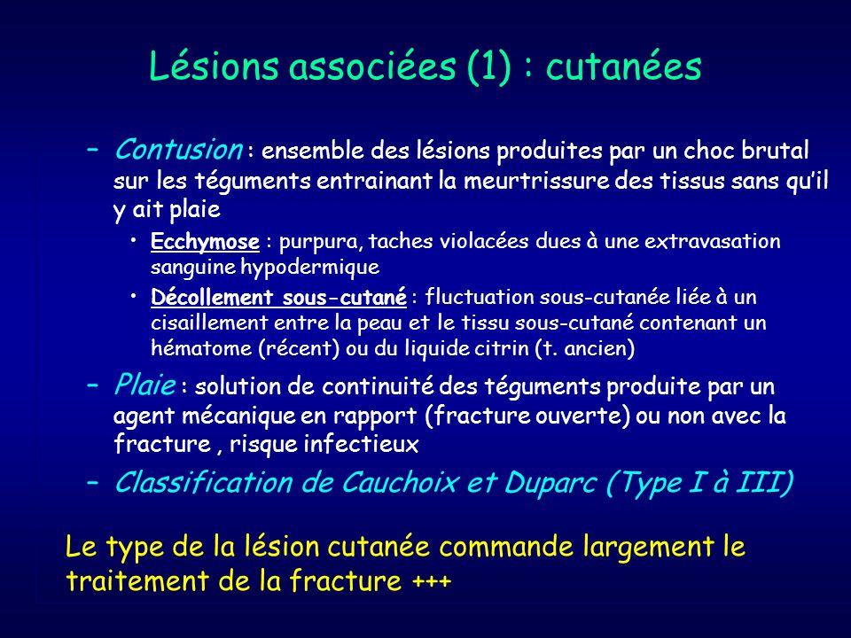 Lésions associées (1) : cutanées