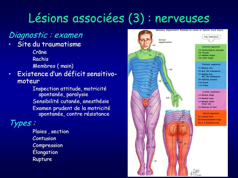 Lésions associées (3) : nerveuses