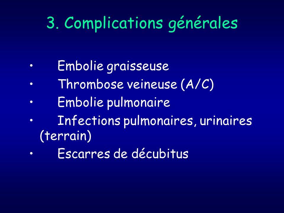 3. Complications générales