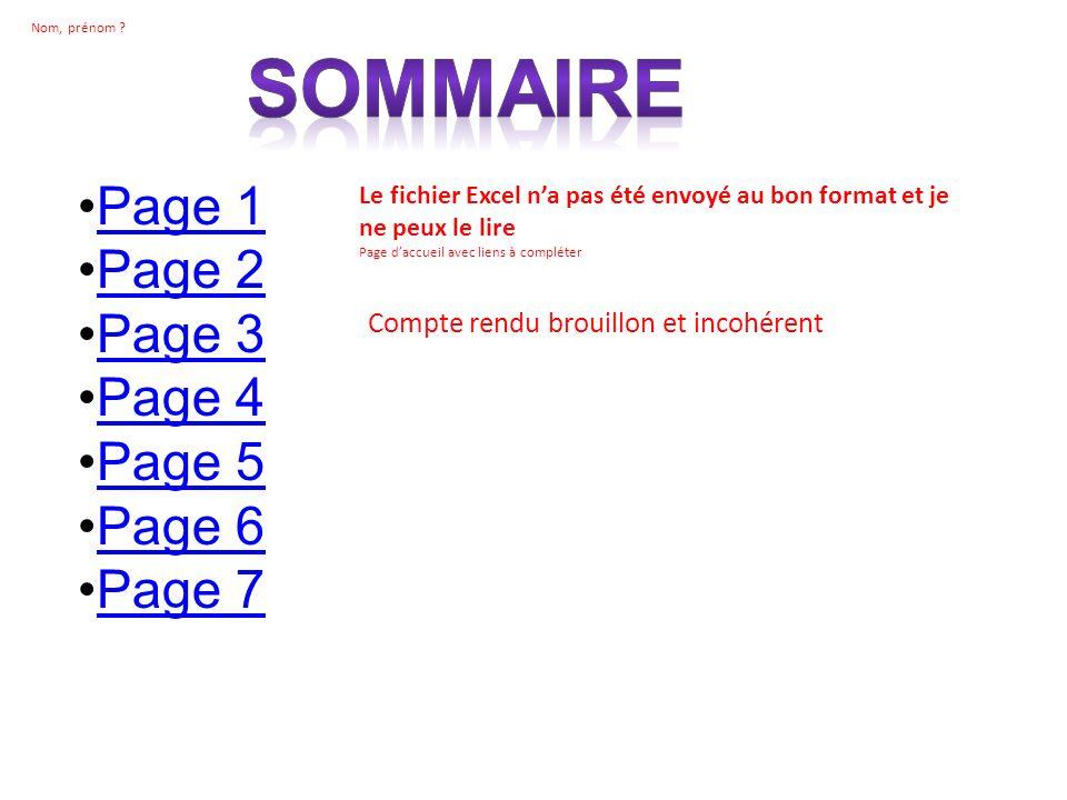 Sommaire Page 1 Page 2 Page 3 Page 4 Page 5 Page 6 Page 7