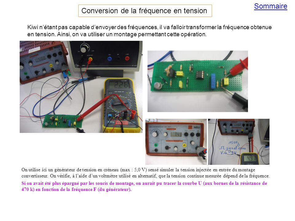 Conversion de la fréquence en tension