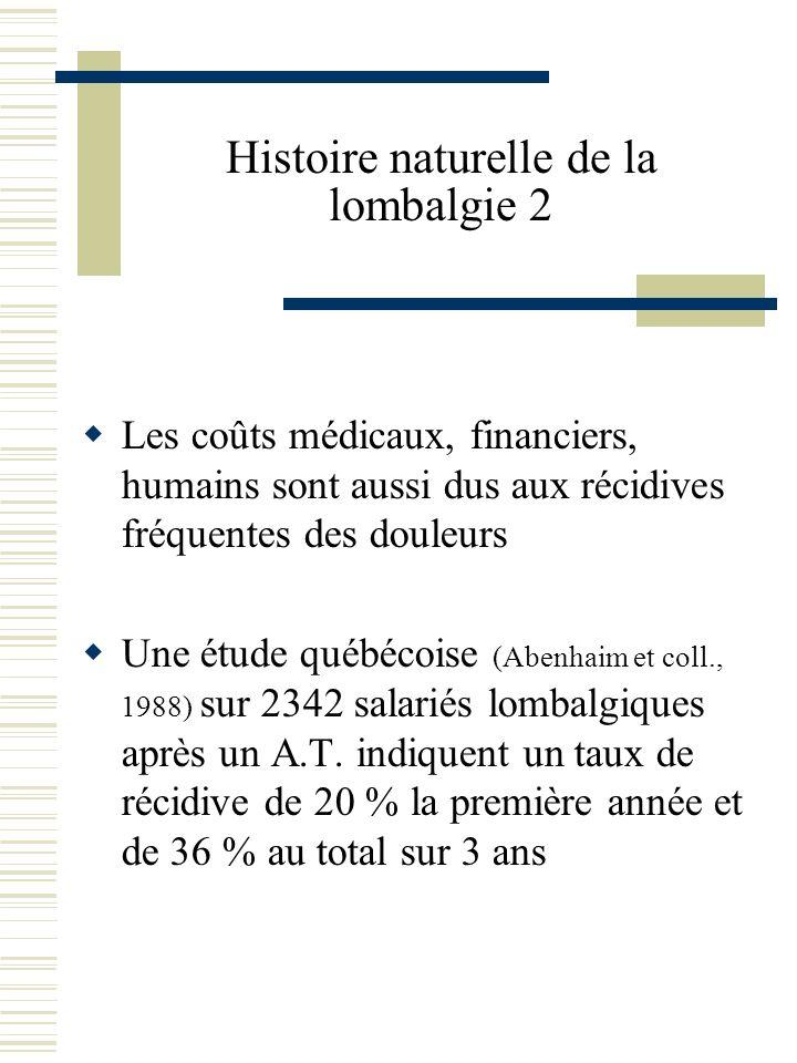 Histoire naturelle de la lombalgie 2