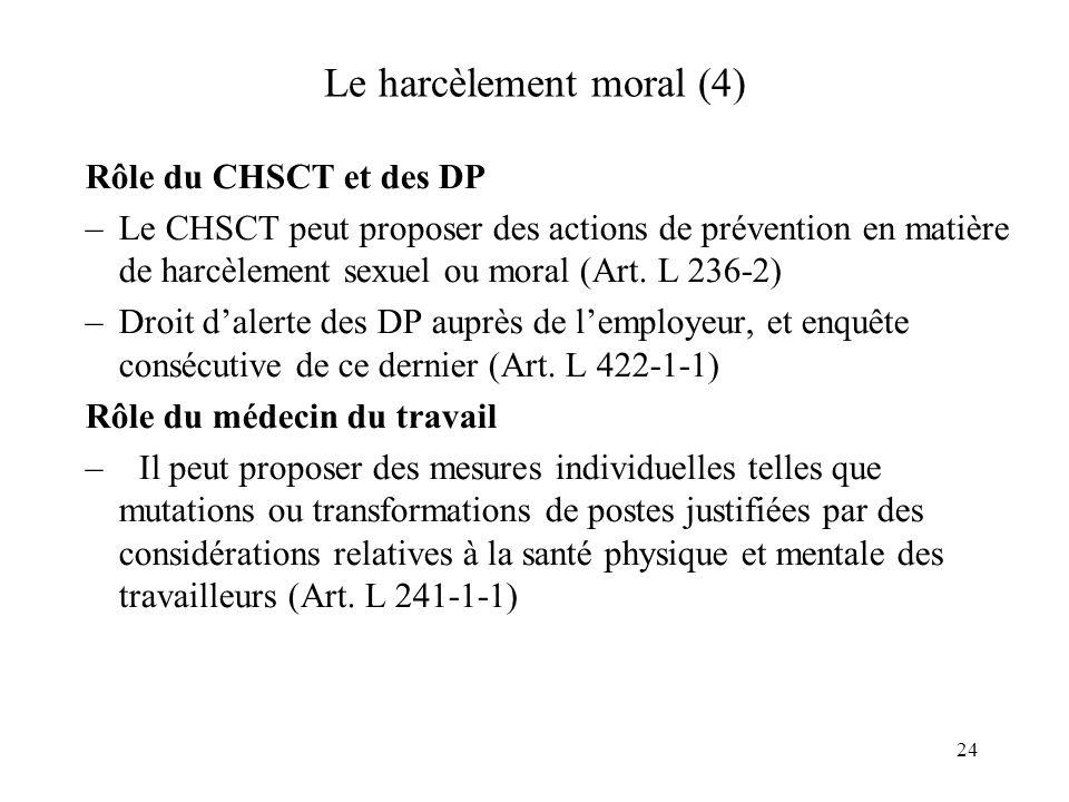 Le harcèlement moral (4)