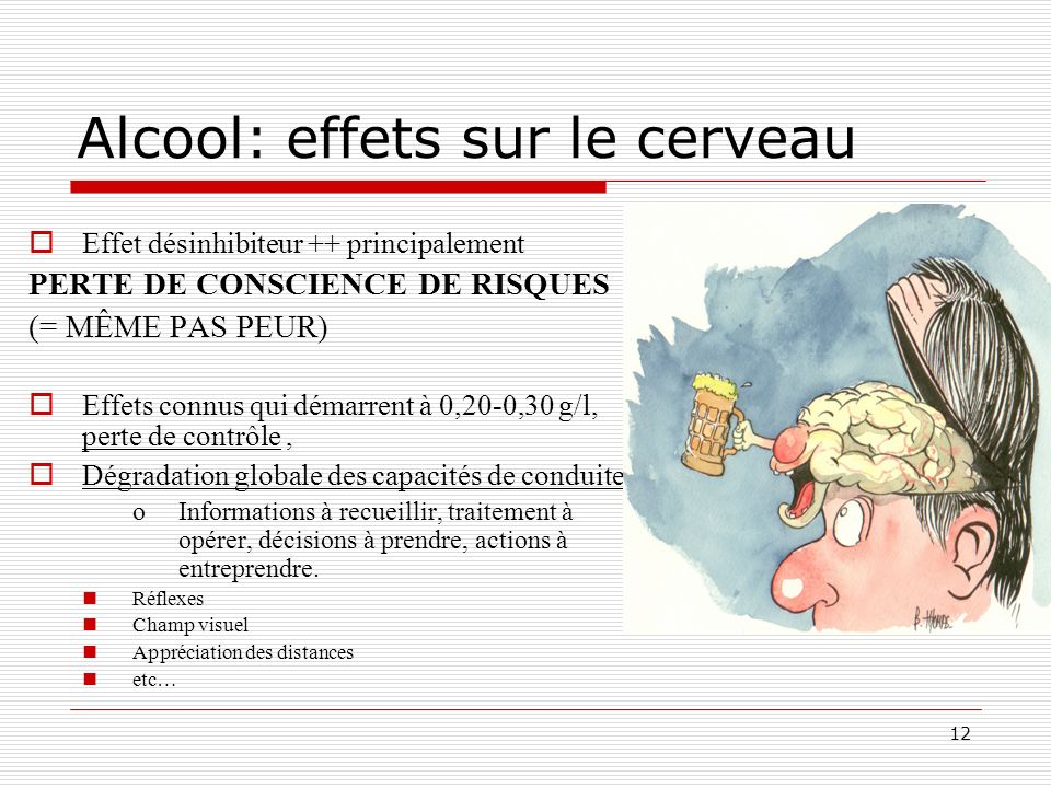 Alcool: effets sur le cerveau