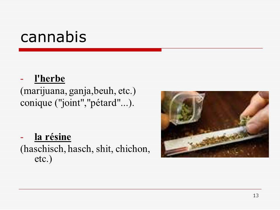 cannabis l herbe (marijuana, ganja,beuh, etc.)