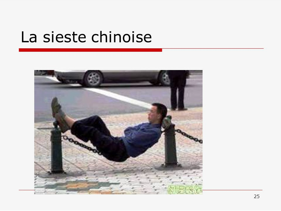 La sieste chinoise