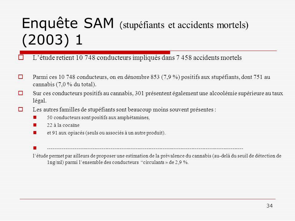 Enquête SAM (stupéfiants et accidents mortels) (2003) 1