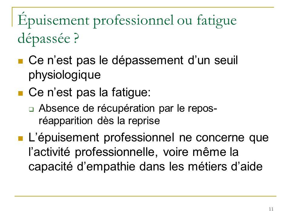 Épuisement professionnel ou fatigue dépassée