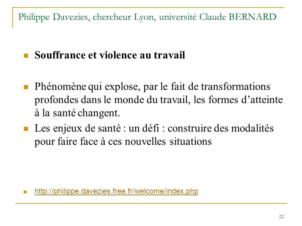 Philippe Davezies, chercheur Lyon, université Claude BERNARD