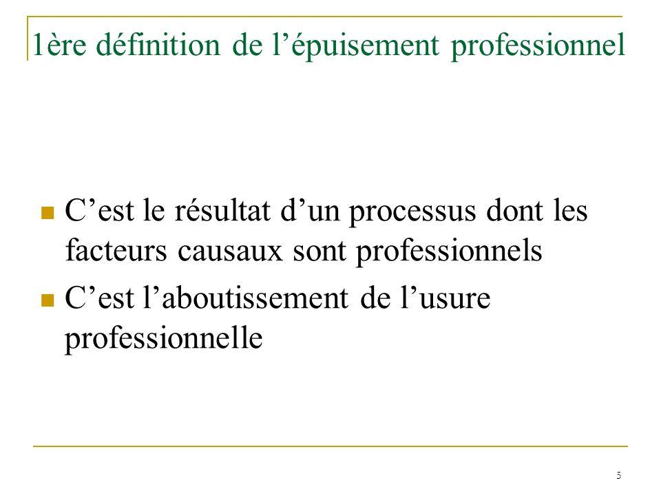 1ère définition de l'épuisement professionnel