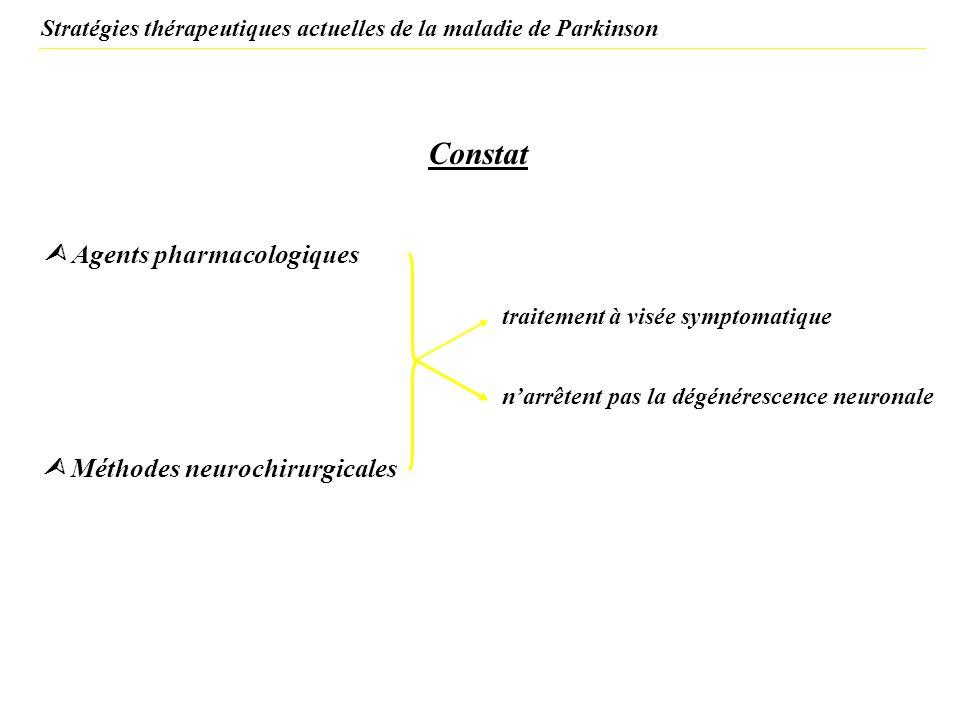 Stratégies thérapeutiques actuelles de la maladie de Parkinson