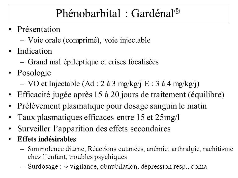 Phénobarbital : Gardénal