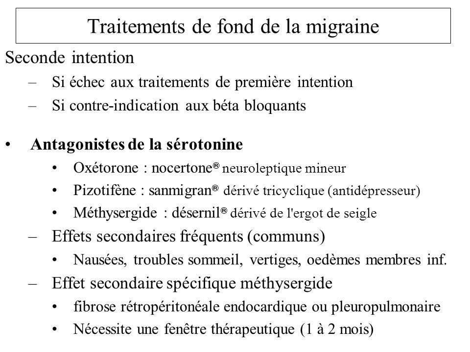 Traitements de fond de la migraine