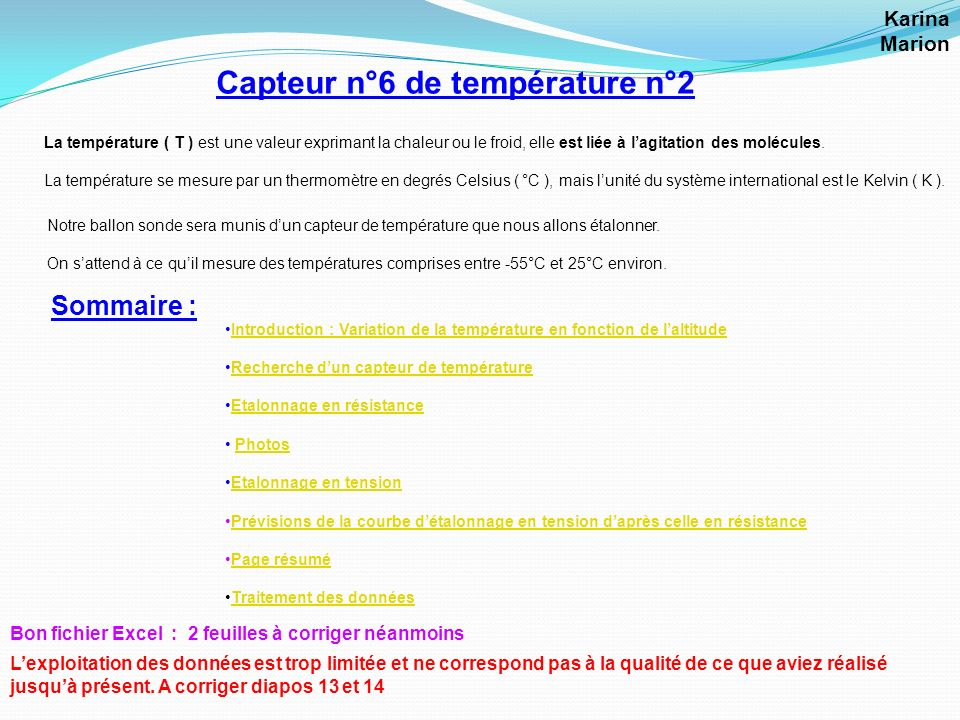 Capteur n°6 de température n°2