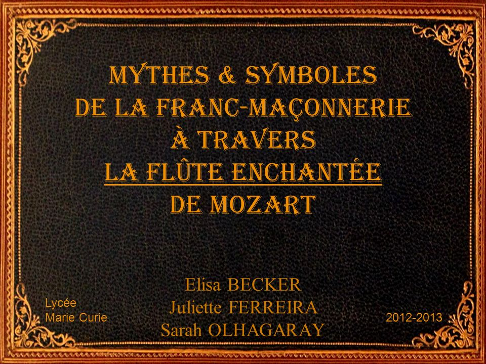 Elisa BECKER Juliette FERREIRA Sarah OLHAGARAY