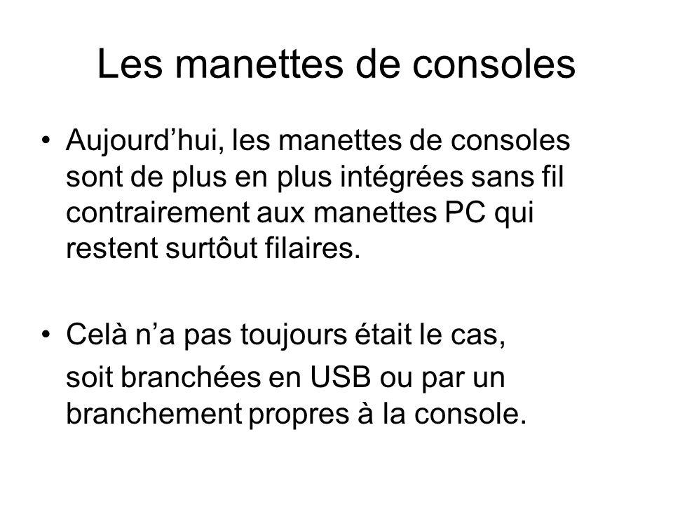 Les manettes de consoles
