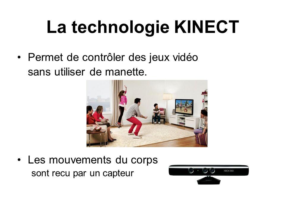La technologie KINECT Permet de contrôler des jeux vidéo