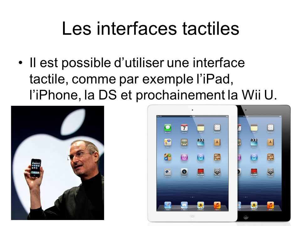 Les interfaces tactiles