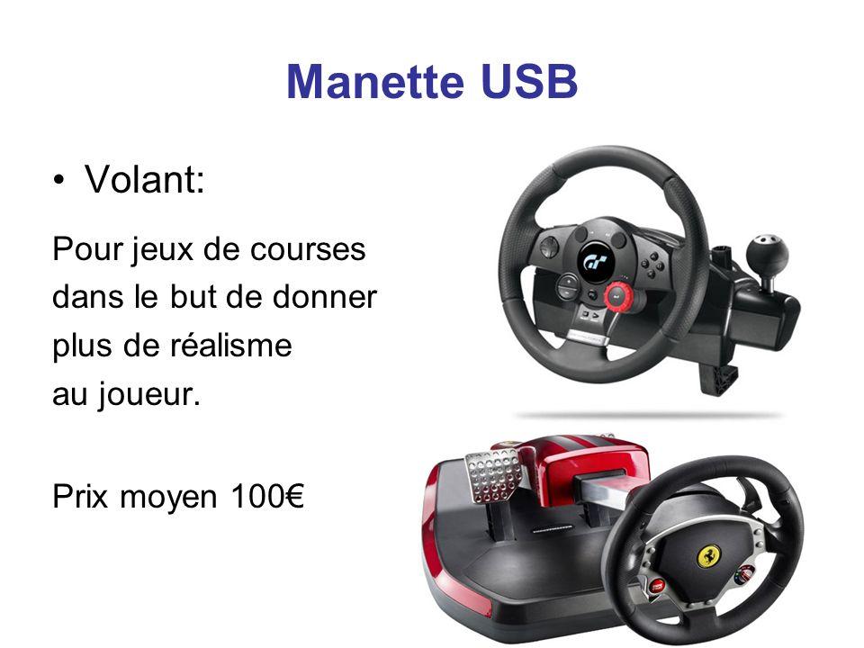 Manette USB Volant: Pour jeux de courses dans le but de donner