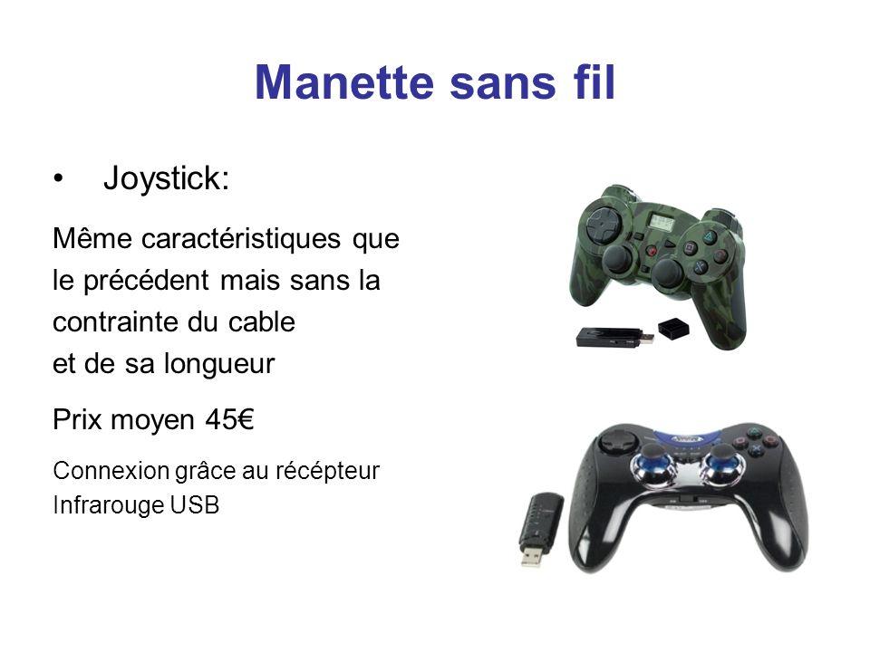 Manette sans fil Joystick: Même caractéristiques que