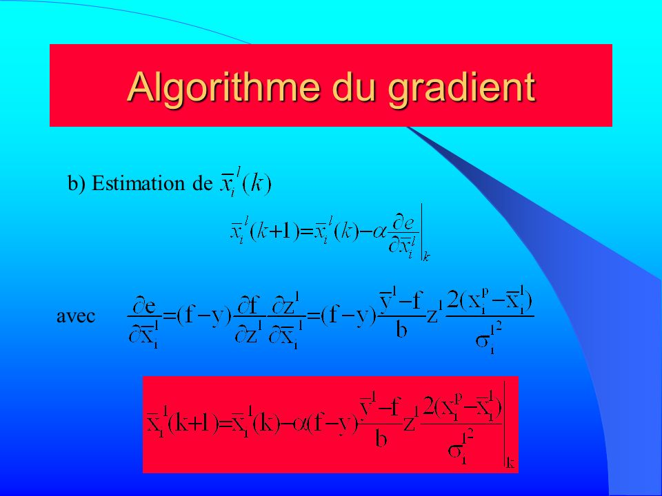 Algorithme du gradient
