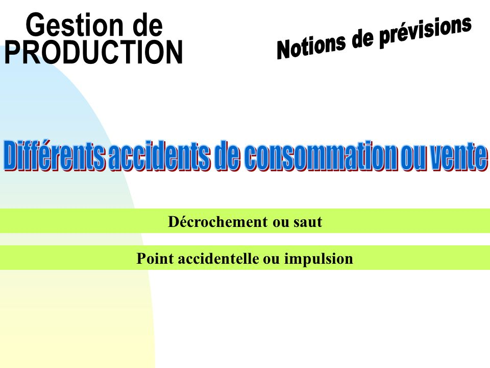 Point accidentelle ou impulsion