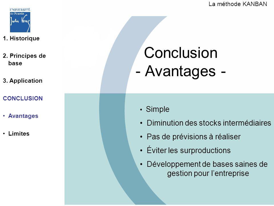 Conclusion - Avantages -