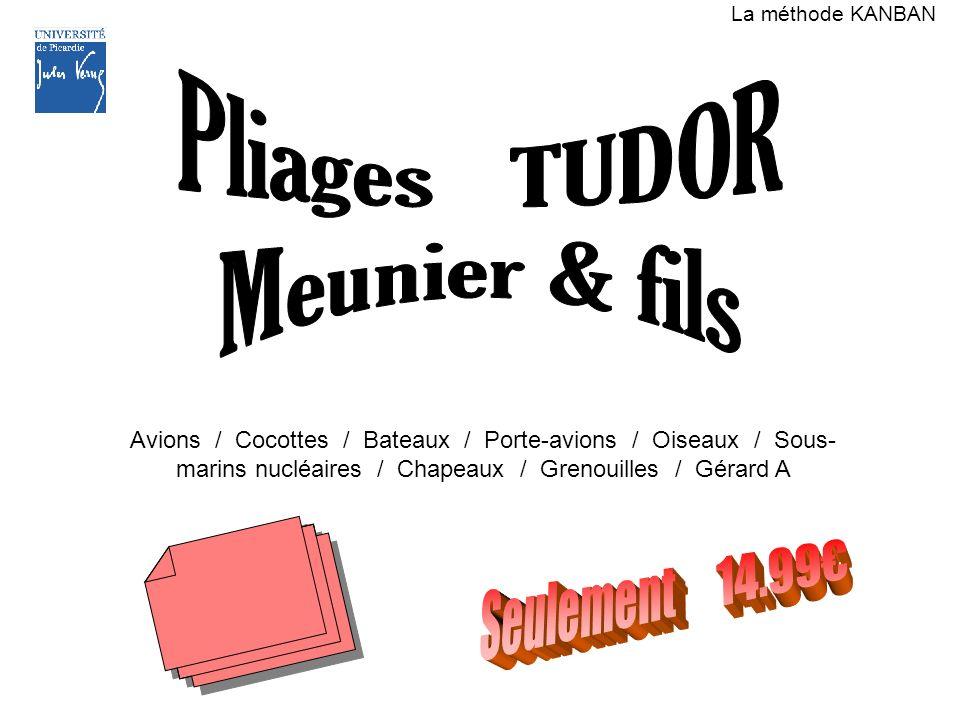 Pliages TUDOR Meunier & fils Seulement 14.99€