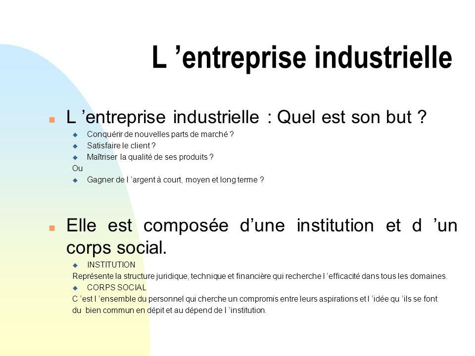 L 'entreprise industrielle