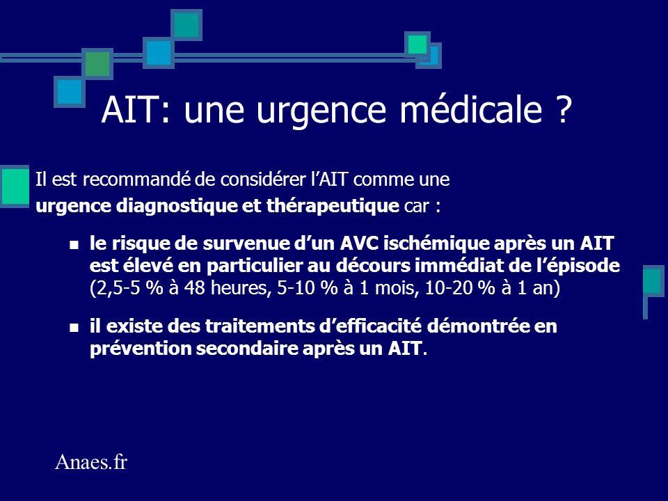 AIT: une urgence médicale