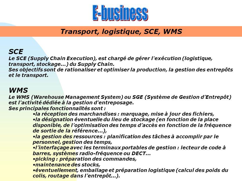Transport, logistique, SCE, WMS