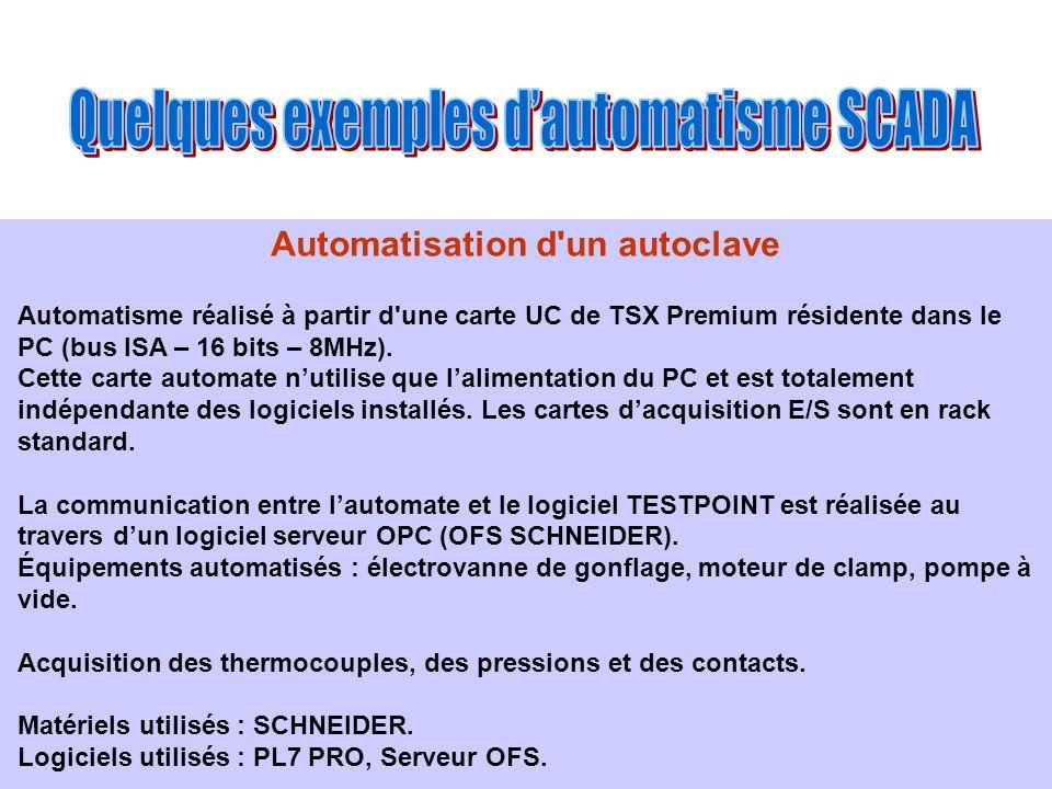 Automatisation d un autoclave
