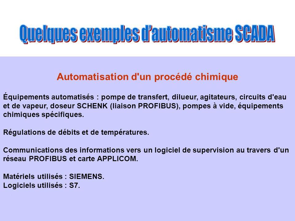 Automatisation d un procédé chimique