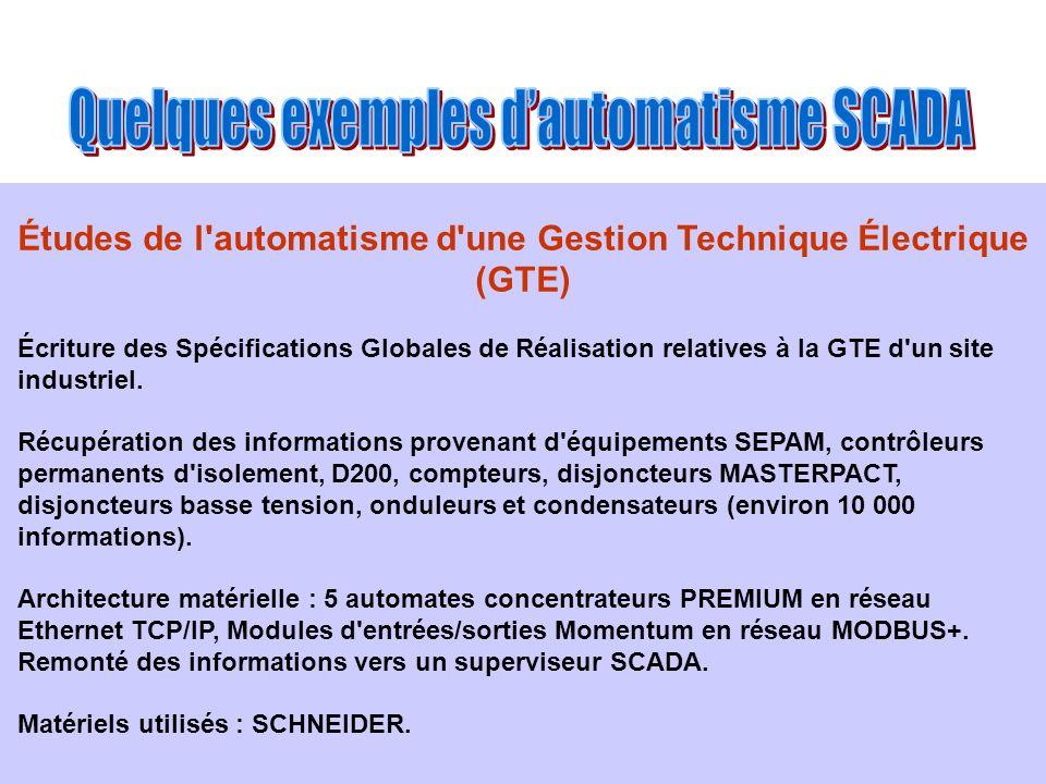 Études de l automatisme d une Gestion Technique Électrique (GTE)