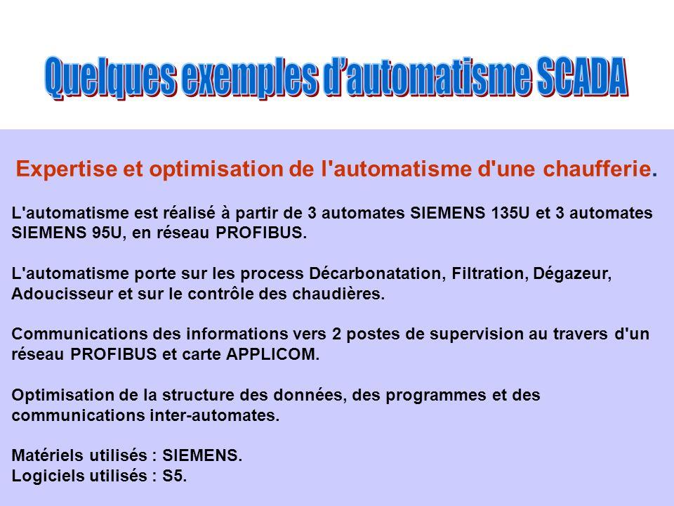 Expertise et optimisation de l automatisme d une chaufferie.
