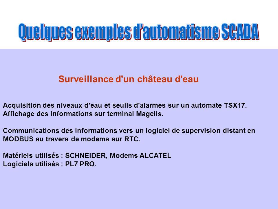 Quelques exemples d'automatisme SCADA
