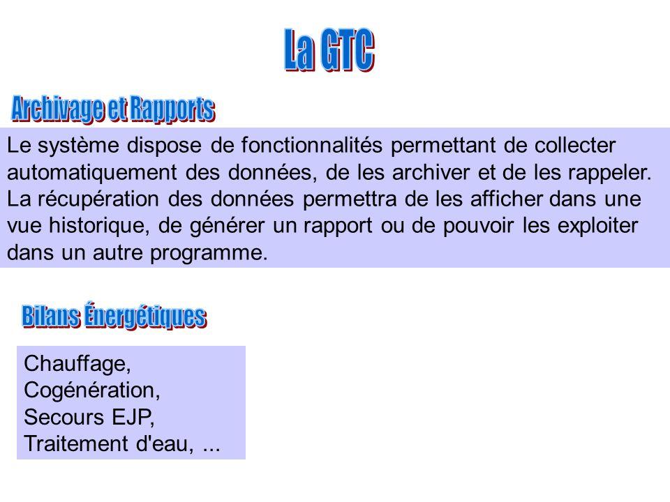 La GTC Archivage et Rapports