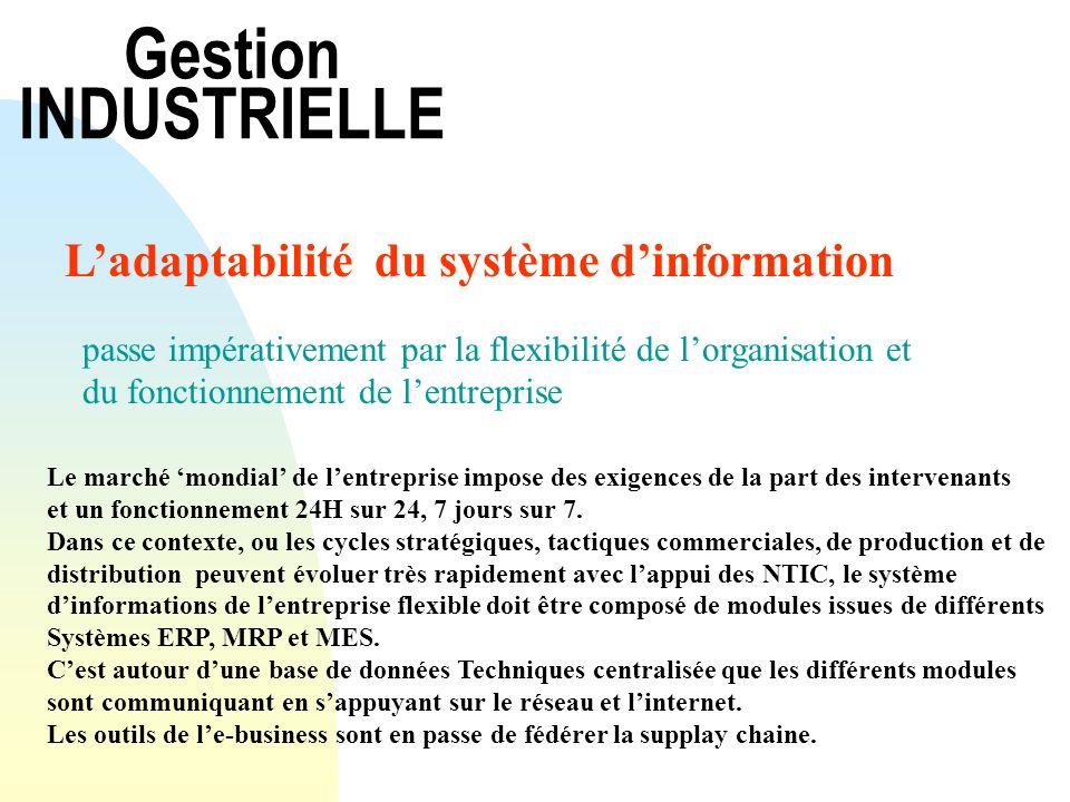 Gestion INDUSTRIELLE L'adaptabilité du système d'information