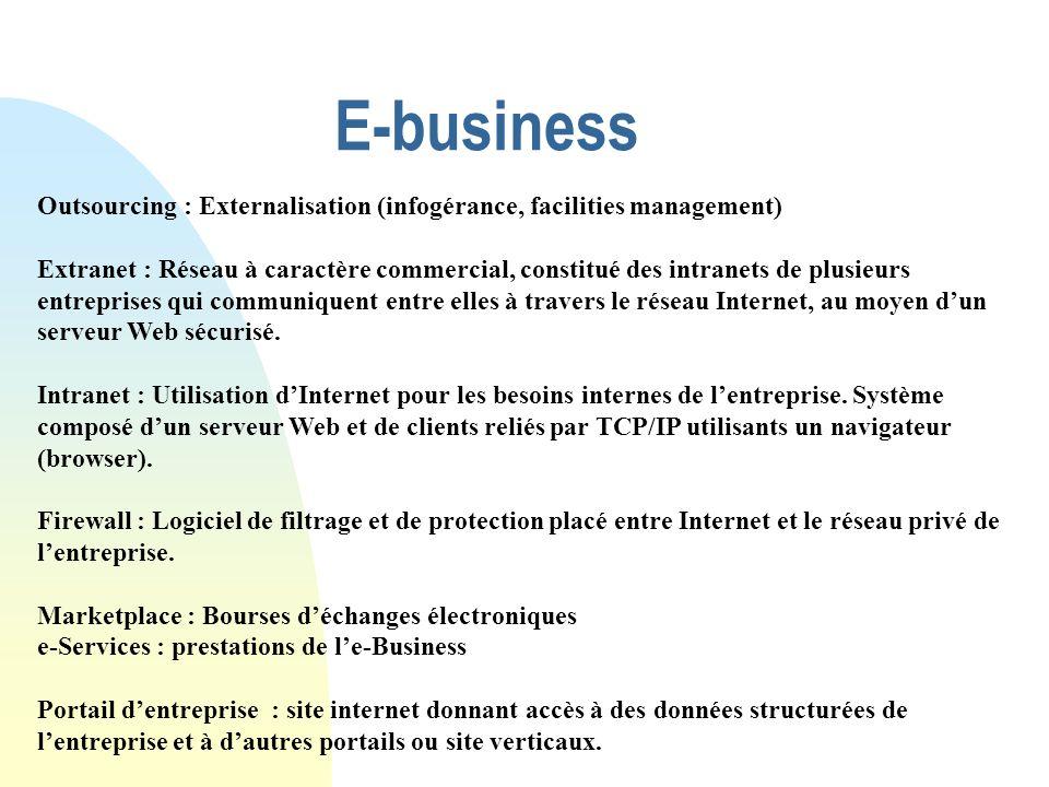 E-business Outsourcing : Externalisation (infogérance, facilities management)