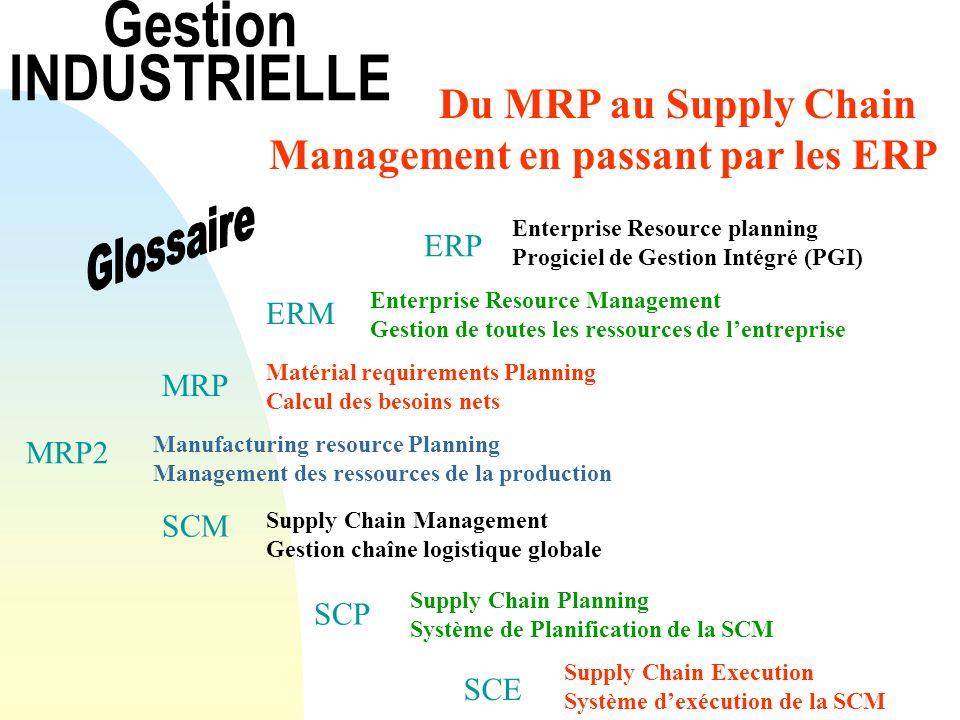 Gestion INDUSTRIELLE Du MRP au Supply Chain