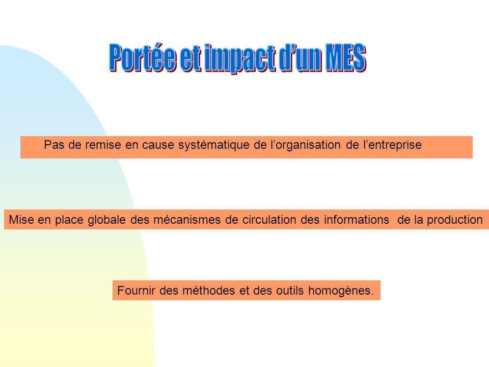 Portée et impact d'un MES