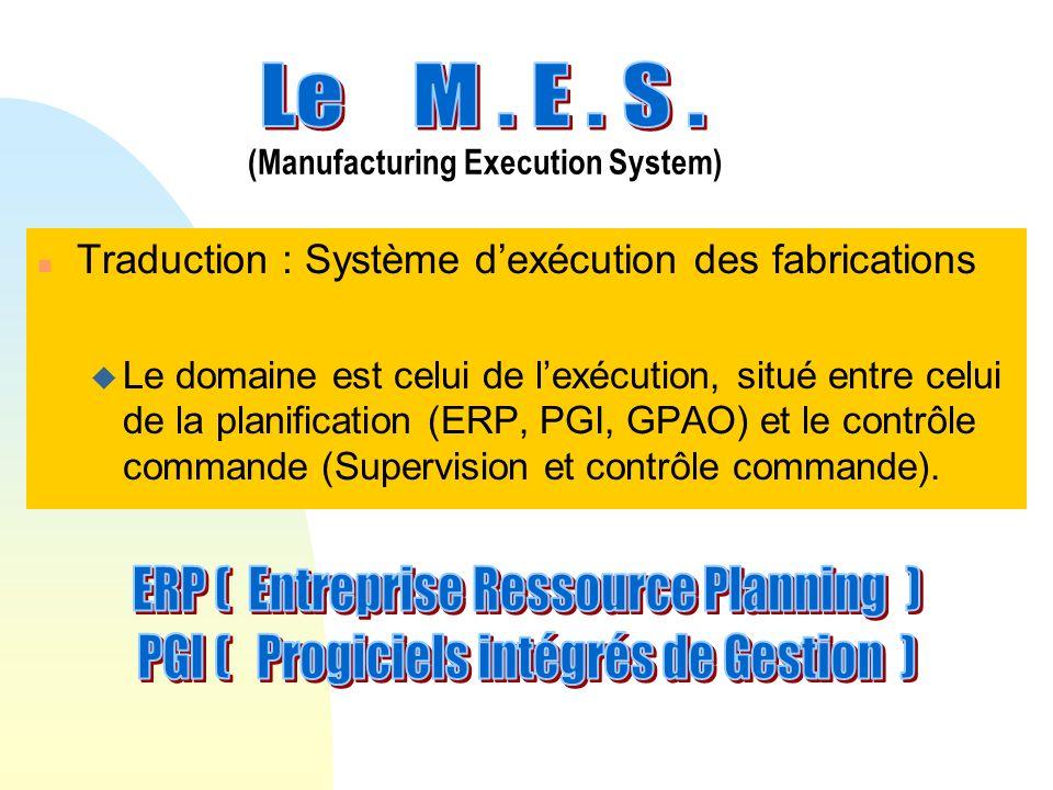 ERP ( Entreprise Ressource Planning )