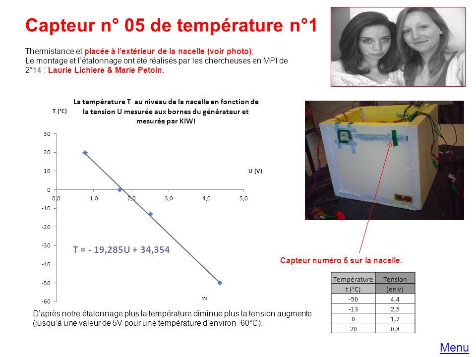 Capteur n° 05 de température n°1